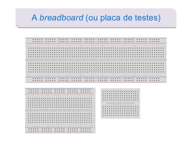 A breadboard (ou placa de testes)
