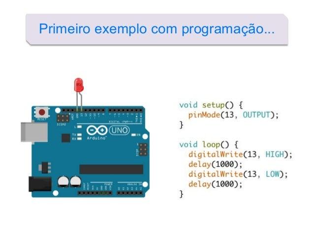 Primeiro exemplo com programação...