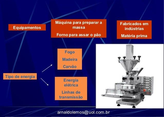 Máquina para preparar a   Fabricados em    Equipamentos           massa               indústrias                   Forno p...