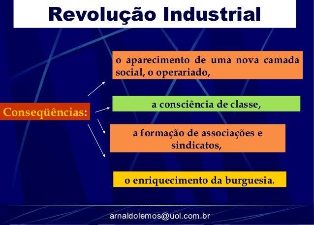 Revolução Industrial                  o aparecimento de uma nova camada                  social, o operariado,            ...