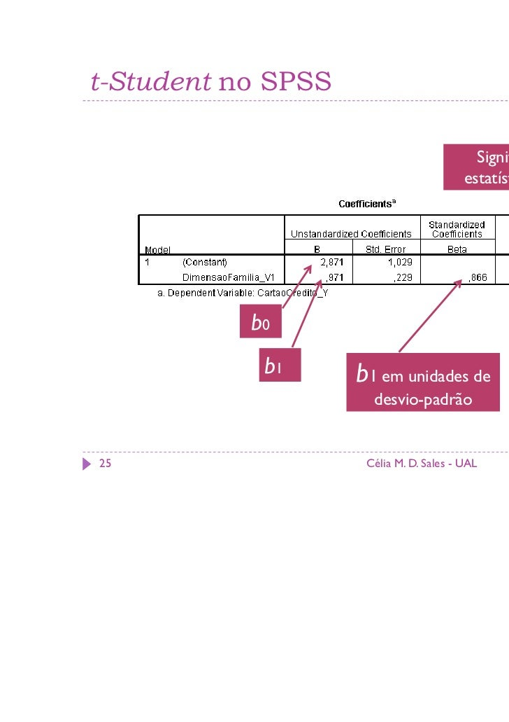 t-Student no SPSS                                           Significância                                         estatíst...
