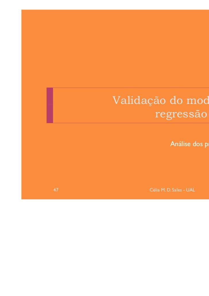 Validação do modelo de            regressão linear                                     Model fit                     Análi...