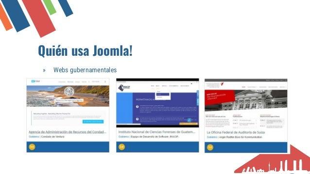 Qui�n usa Joomla! � Webs corporativas