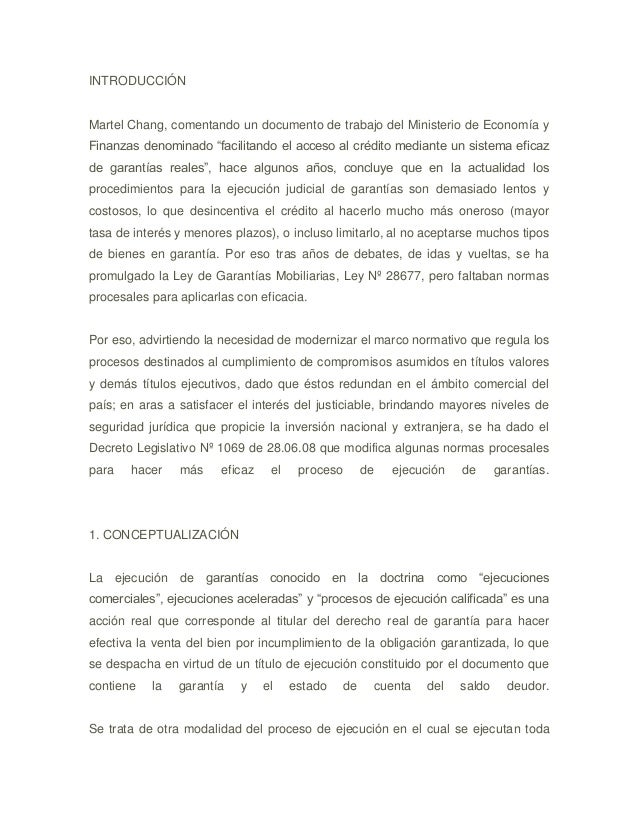 """INTRODUCCIÓN  Martel Chang, comentando un documento de trabajo del Ministerio de Economía y Finanzas denominado """"facilitan..."""