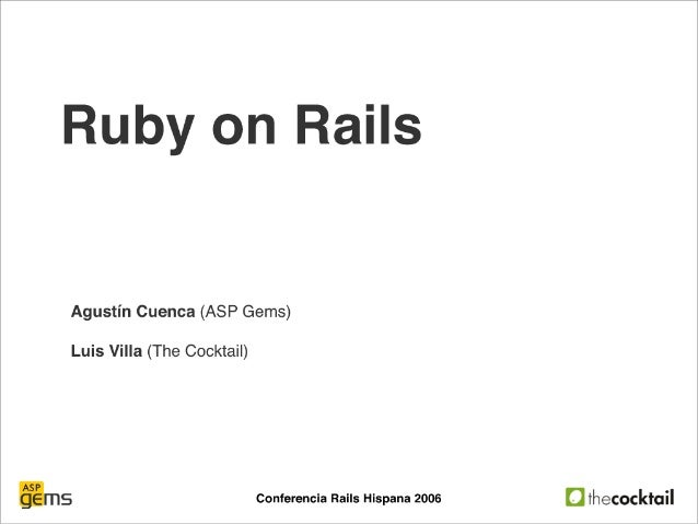 """Introduccion a Rails"" por TheCocktail"