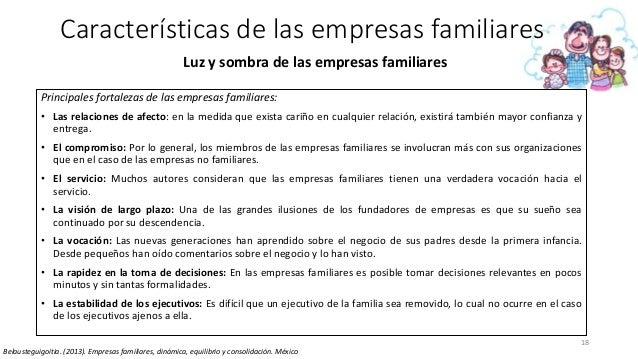 18 Características de las empresas familiares Luz y sombra de las empresas familiares Principales fortalezas de las empres...
