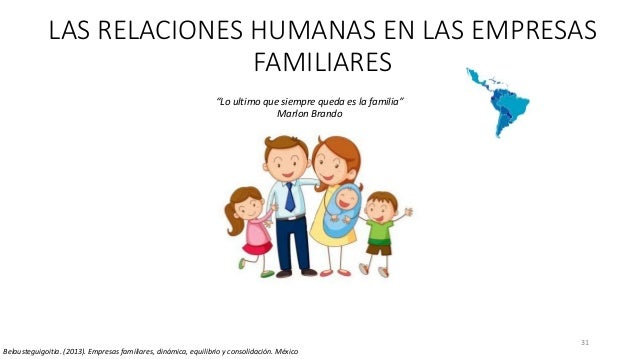 """31 LAS RELACIONES HUMANAS EN LAS EMPRESAS FAMILIARES """"Lo ultimo que siempre queda es la familia"""" Marlon Brando Belaustegui..."""