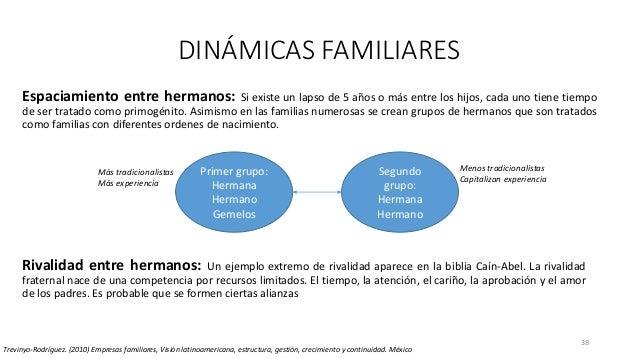 38 DINÁMICAS FAMILIARES Trevinyo-Rodríguez. (2010) Empresas familiares, Visión latinoamericana, estructura, gestión, creci...
