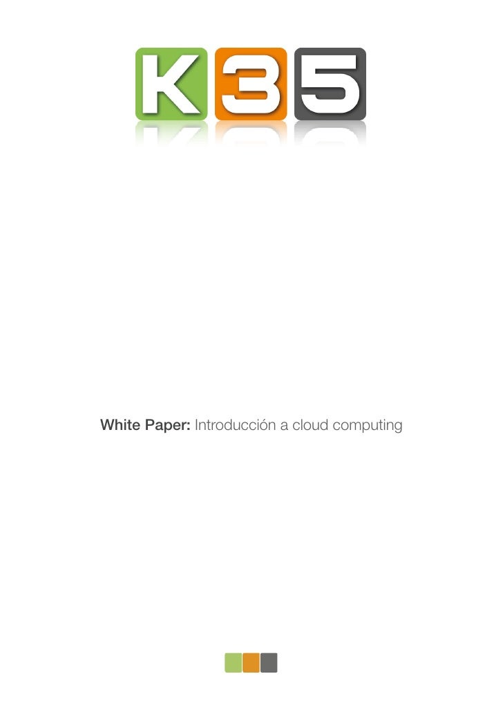White Paper: Introducción a cloud computing