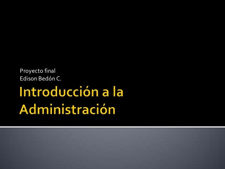 Proyecto finalEdison Bedón C.