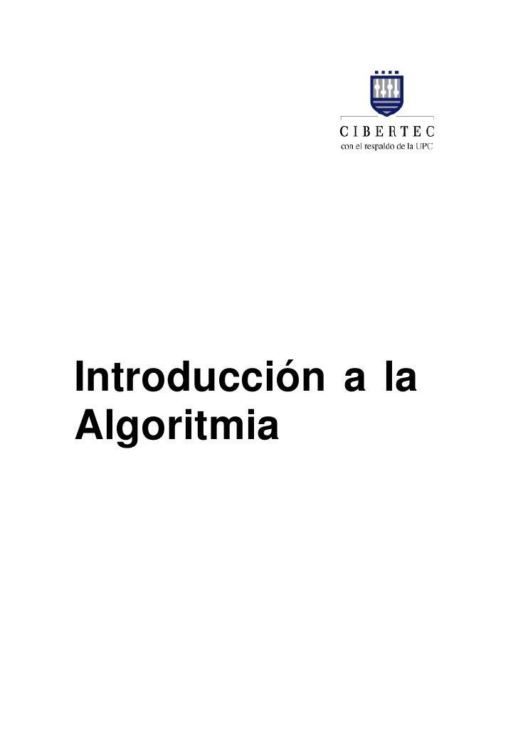 Introducción a la Algoritmia