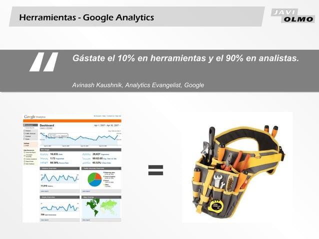 "Herramientas - Google Analytics""Gástate el 10% en herramientas y el 90% en analistas.Avinash Kaushnik, Analytics Evangelis..."