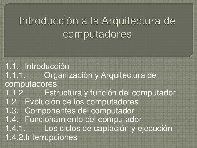 Introducci n a la arquitectura de computadores for Arquitectura de computadores