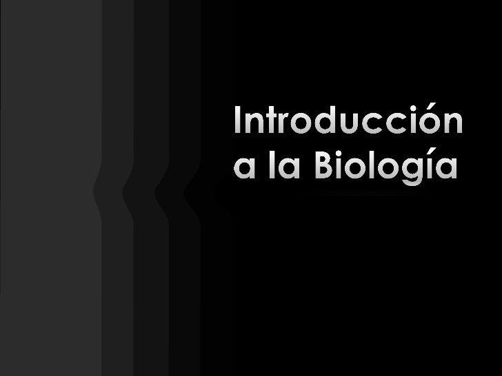 Introducción a la Biología<br />