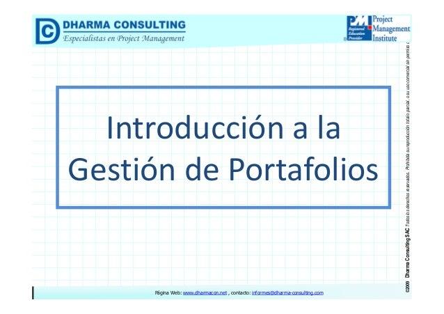 Introducción a la Gestión de Portafolios Slide 2