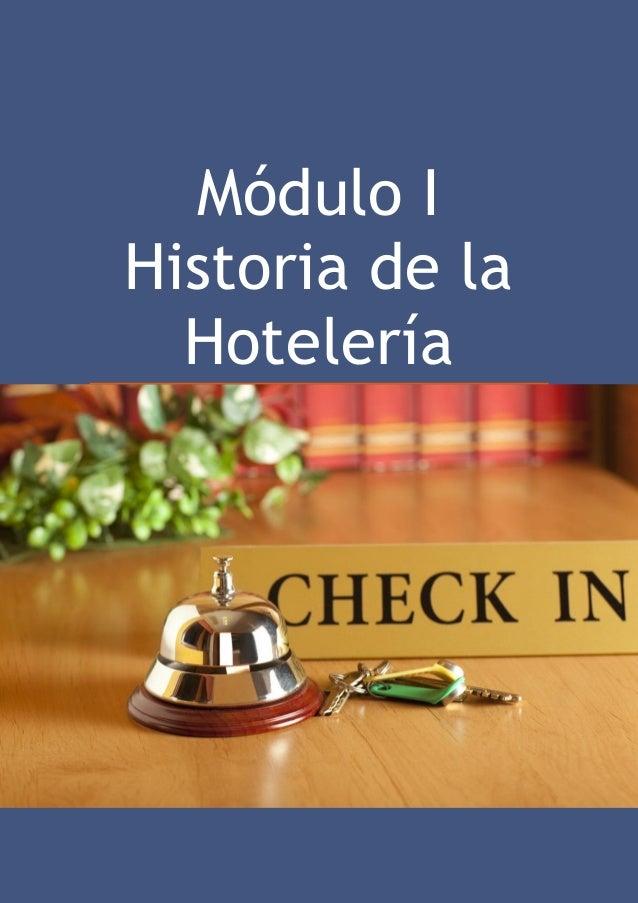 Introducción A La Hotelería Módulo I
