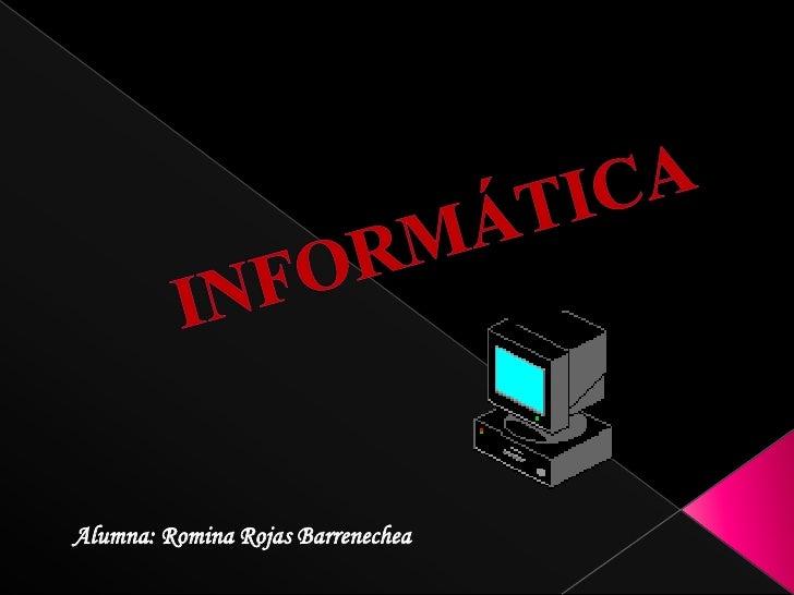 Alumna: Romina Rojas Barrenechea