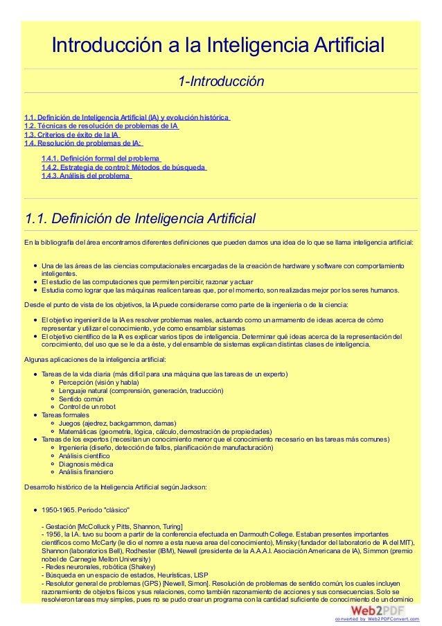 Introducción a la Inteligencia Artificial1-Introducción1.1. Definición de InteligenciaArtificial (IA) y evolución históric...