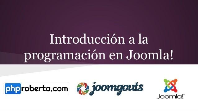 Introducción a la programación en Joomla!