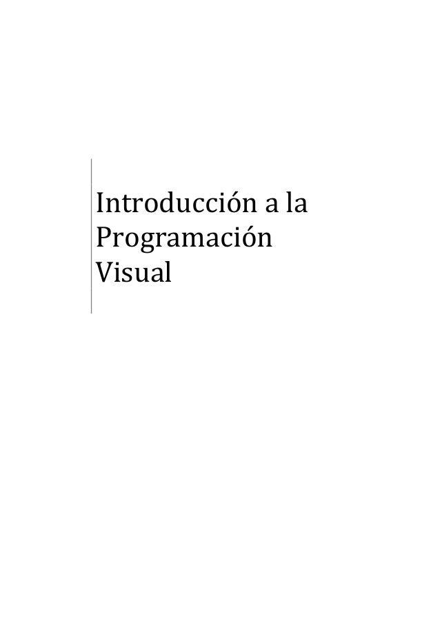 Introducción a la Programación Visual