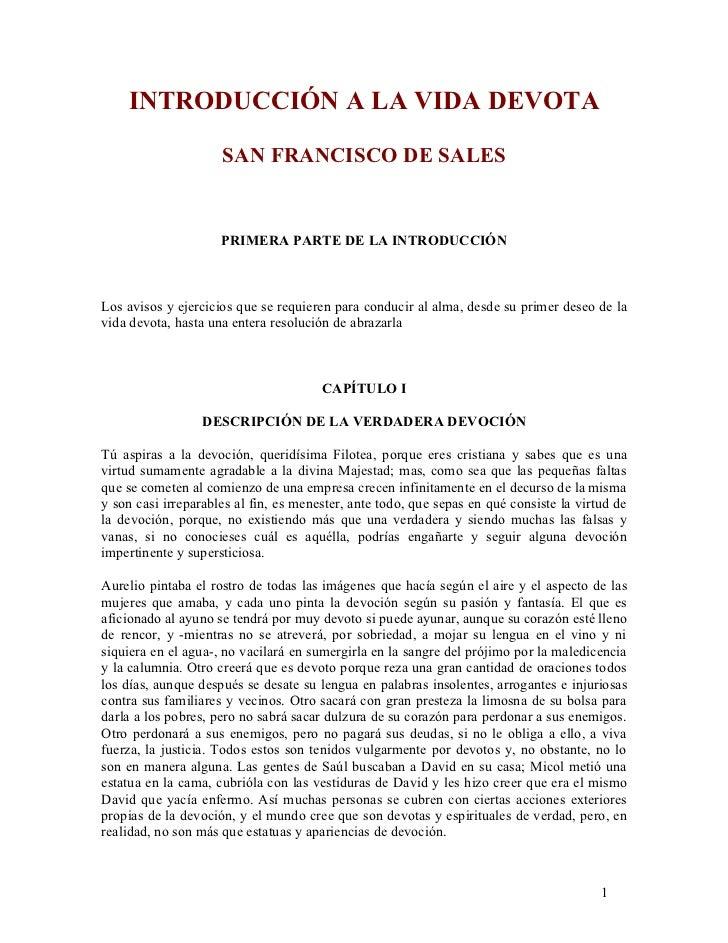 9c3df2f56ab INTRODUCCIÓN A LA VIDA DEVOTA SAN FRANCISCO DE SALES ...