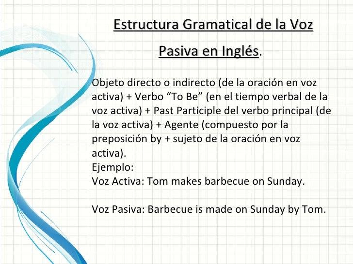 Introducción A La Voz Pasiva En Inglés