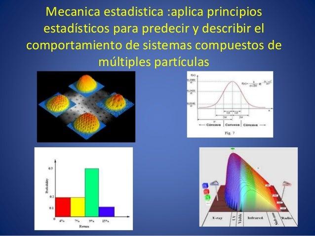 Resultado de imagen de Mecánica estadística