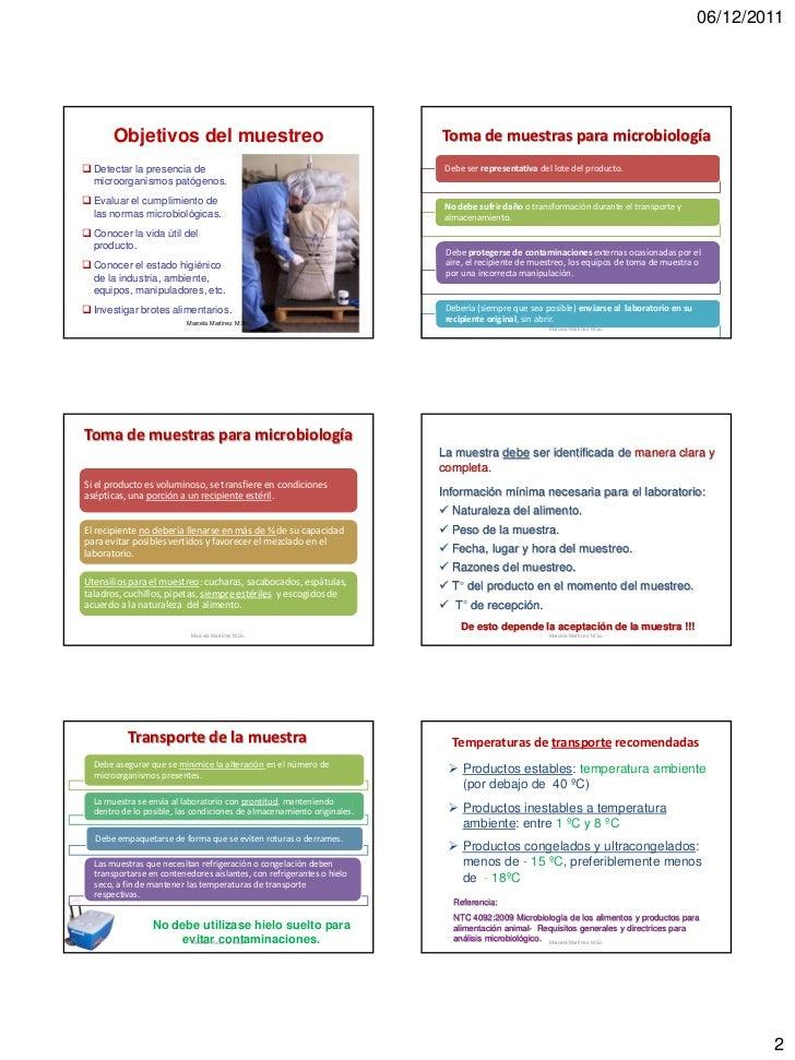 06/12/2011       Objetivos del muestreo                                           Toma de muestras para microbiología Det...