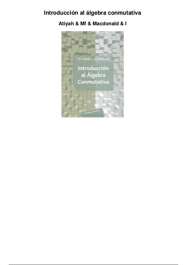 Atiyah macdonald djvu to pdf
