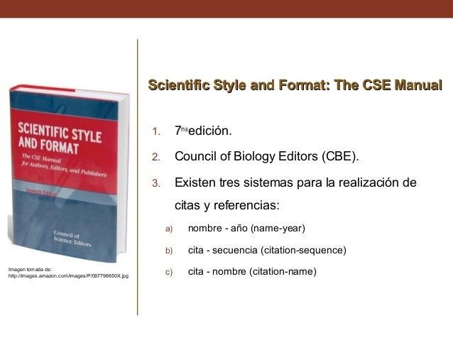 council of scientific editors style