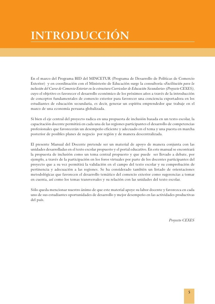 Introducci n al manual docente for Docentes exterior