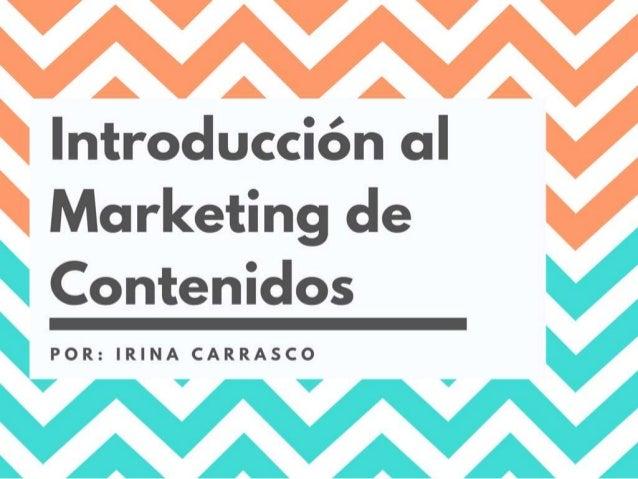 Introducción al Marketing de Contenidos