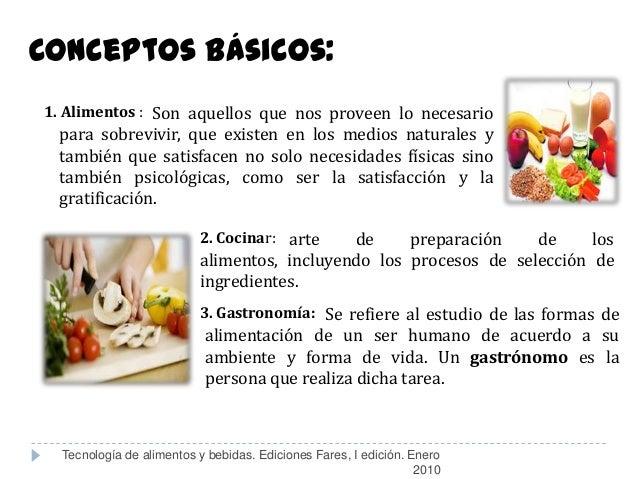 Introducci n a los alimentos y bebidas for Procesos de preelaboracion y conservacion en cocina pdf