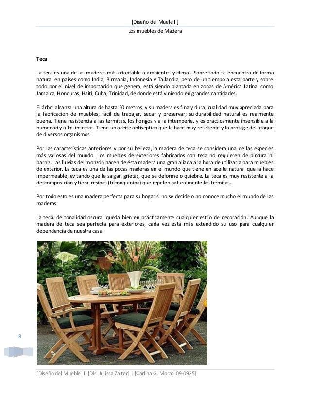 Introducción a los muebles de madera