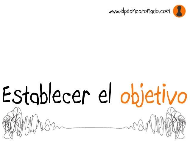 Establecer el objetivo www.elpeoncoronado.com