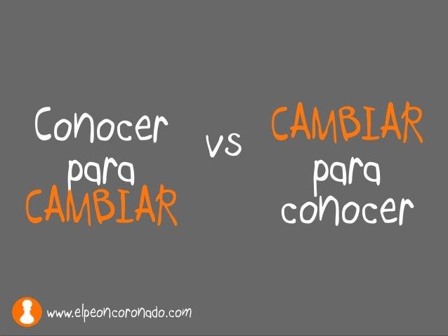 Conocer para CAMBIAR CAMBIAR para conocer vs www.elpeoncoronado.com