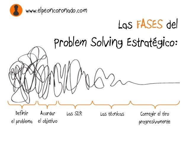 Las FASES del Problem Solving Estratégico: Acordar el objetivo Definir el problema Las SIR Las técnicas Corregir el tiro p...