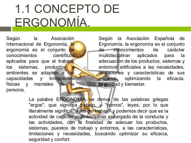 Introducci n al proceso de ergonom a y su contexto for Caracteristicas de la ergonomia