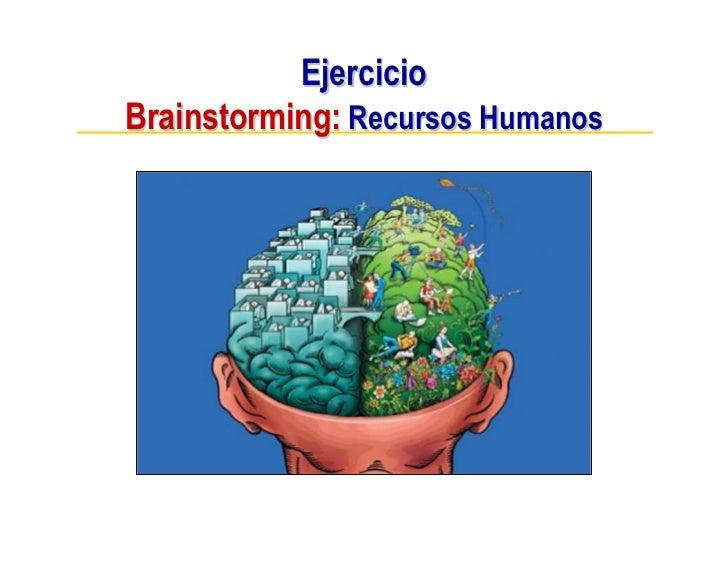 Ejercicio Brainstorming: Recursos Humanos