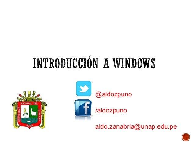 @aldozpuno /aldozpuno aldo.zanabria@unap.edu.pe