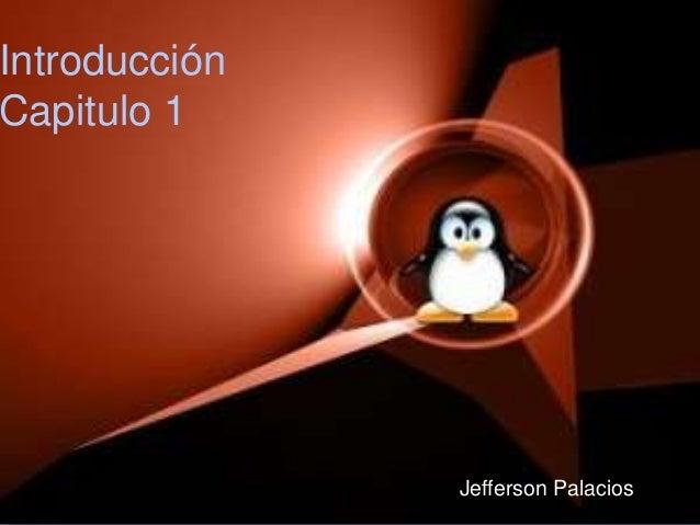Introducción Capitulo 1 Jefferson Palacios