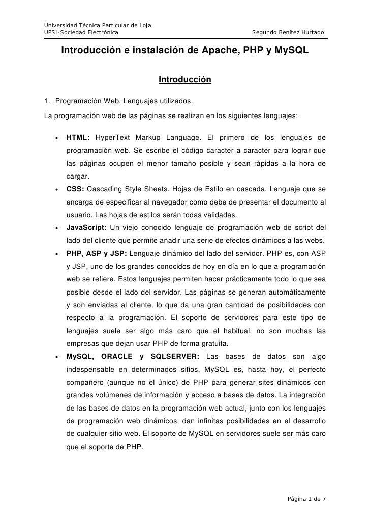 Universidad Técnica Particular de Loja UPSI-Sociedad Electrónica                                       Segundo Benítez Hur...