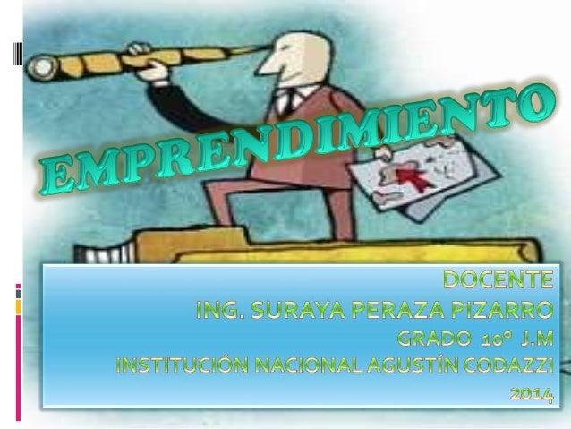  «La palabra emprendimiento proviene del francés entrepreneur (pionero), y se refiere a la capacidad de una persona para ...