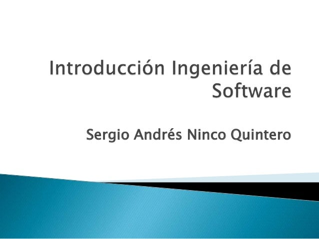 Sergio Andrés Ninco Quintero