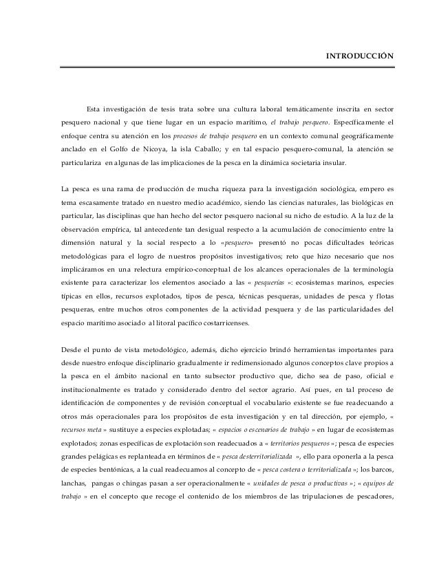 INTRODUCCIÓNEsta investigación de tesis trata sobre una cultura laboral temáticamente inscrita en sectorpesquero nacional ...