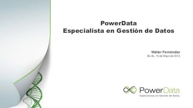 Introducción PowerData Slide 3