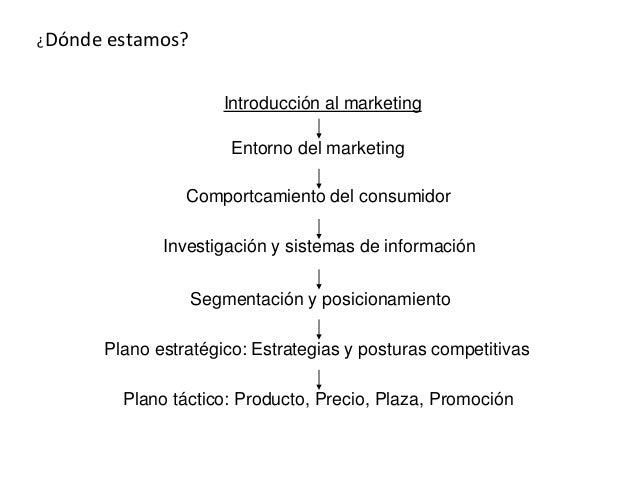 Introducción al marketing Entorno del marketing Comportcamiento del consumidor Investigación y sistemas de información Seg...