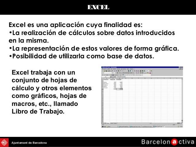 Power Point de introducción a Excel de Microsoft