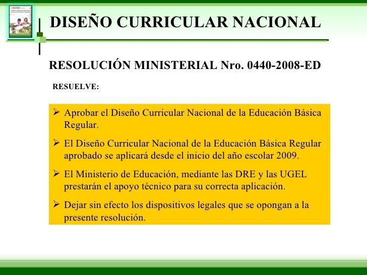 Dise o curricular 2009 exposicion for Diseno curricular educacion primaria