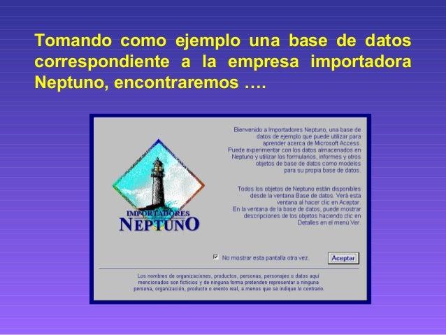 base de datos neptuno access 2007